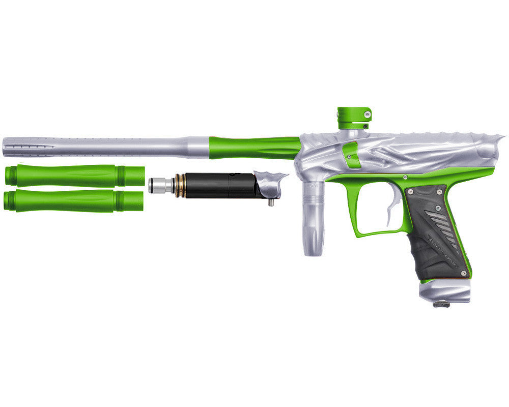 Bob Long Reptile VIS Paintball Gun - Silver/Dust Lime
