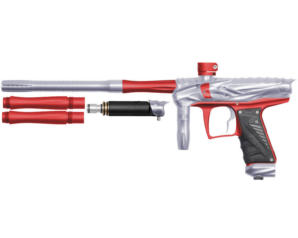 Bob Long Reptile VIS Paintball Gun - Silver/Dust Red