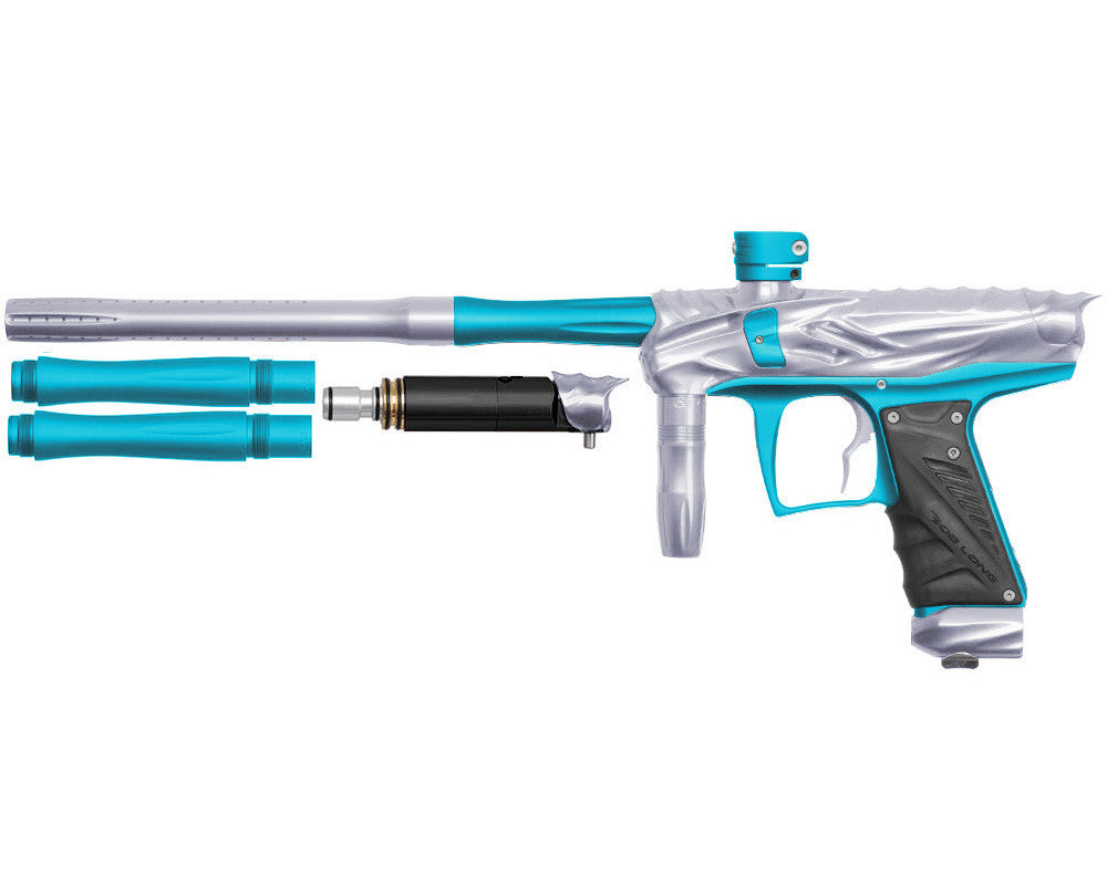 Bob Long Reptile VIS Paintball Gun - Silver/Dust Teal