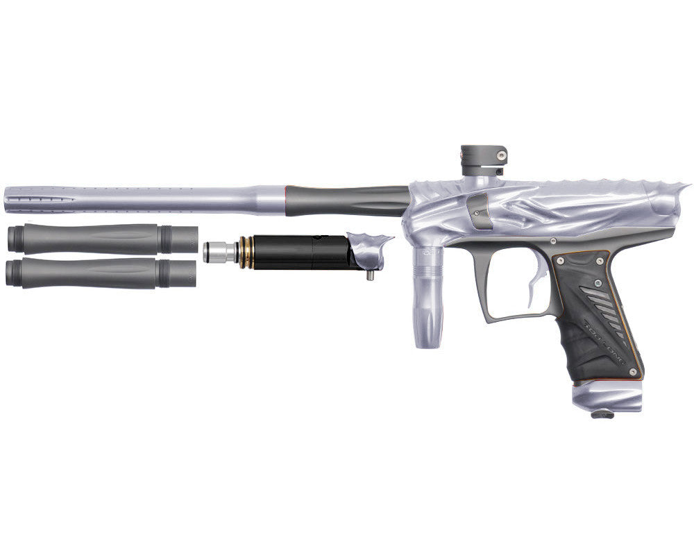 Bob Long Reptile VIS Paintball Gun - Silver/Dust Titanium