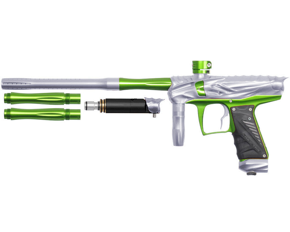 Bob Long Reptile VIS Paintball Gun - Silver/Lime