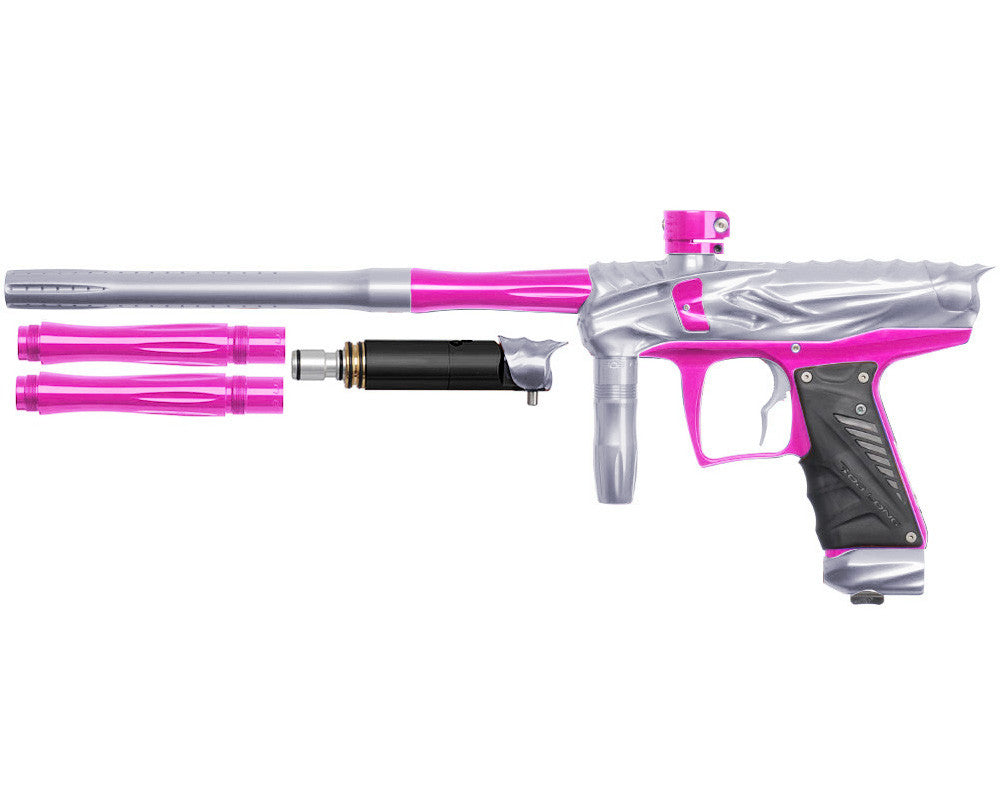 Bob Long Reptile VIS Paintball Gun - Silver/Pink