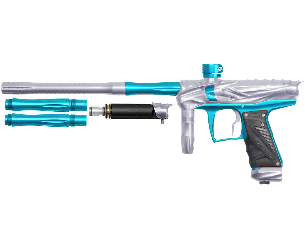 Bob Long Reptile VIS Paintball Gun - Silver/Teal