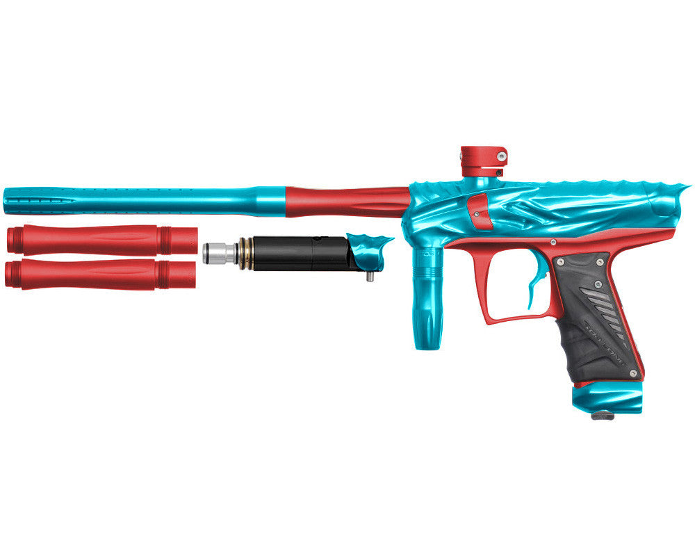 Bob Long Reptile VIS Paintball Gun - Teal/Dust Red
