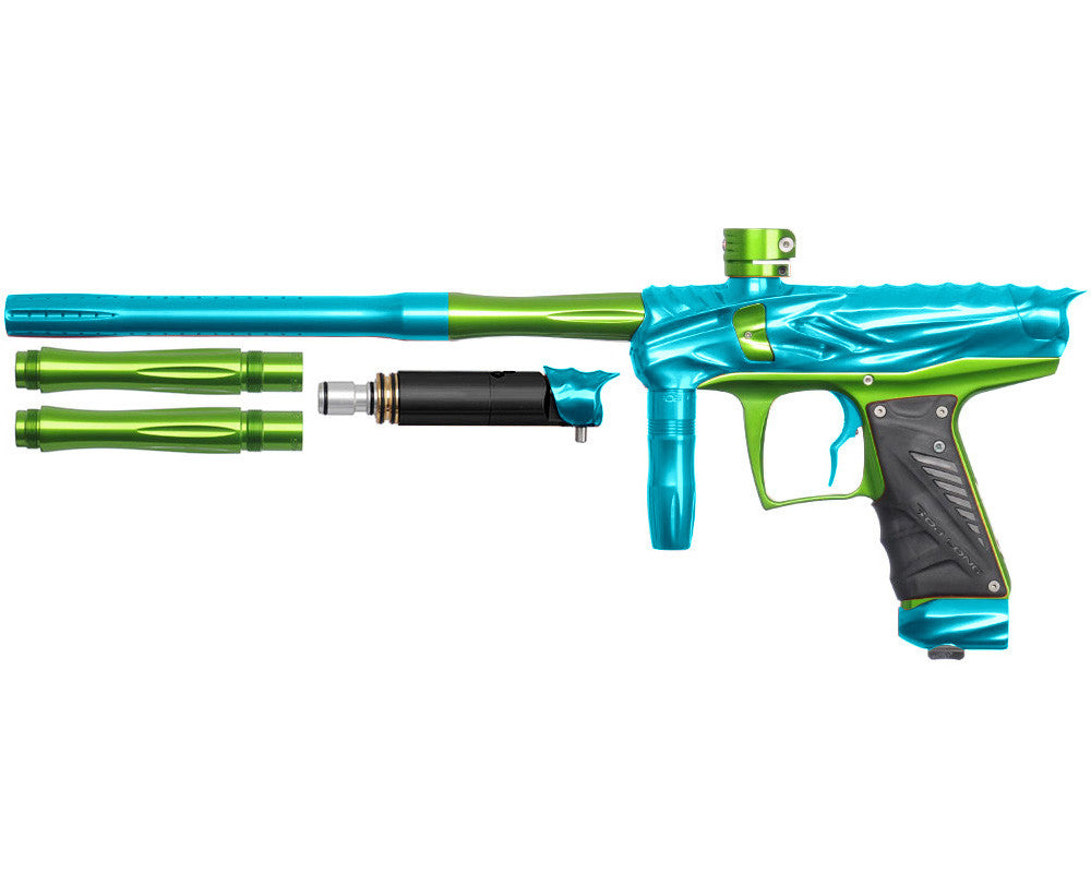 Bob Long Reptile VIS Paintball Gun - Teal/Lime