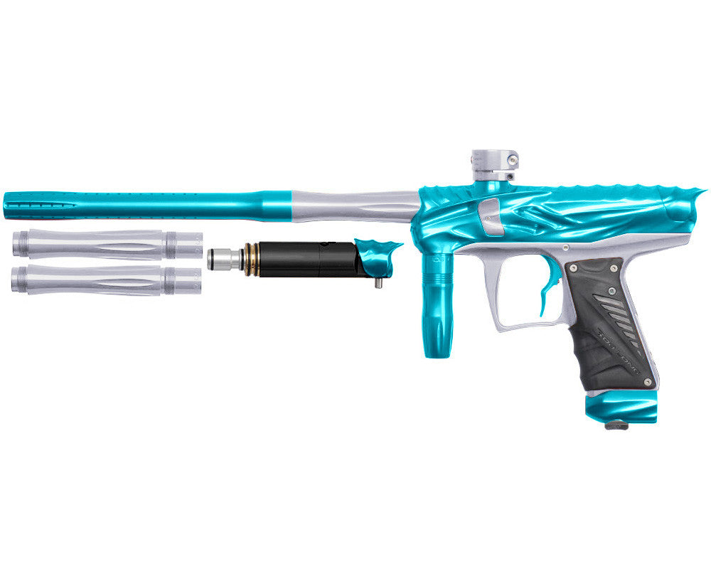 Bob Long Reptile VIS Paintball Gun - Teal/Silver