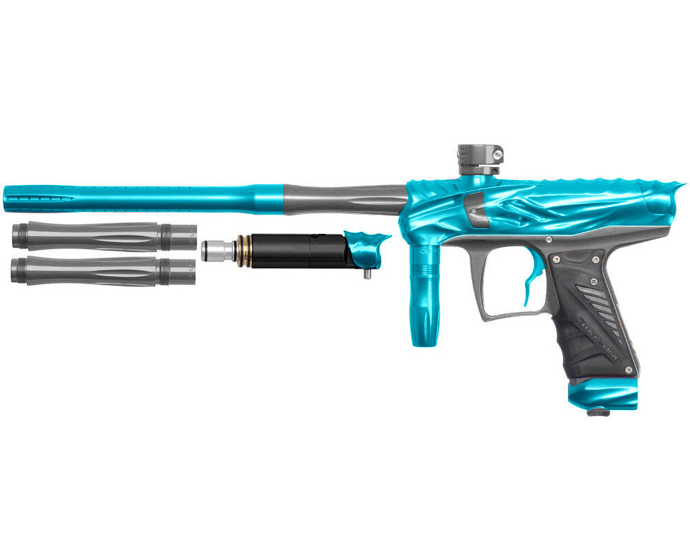 Bob Long Reptile VIS Paintball Gun - Teal/Titanium