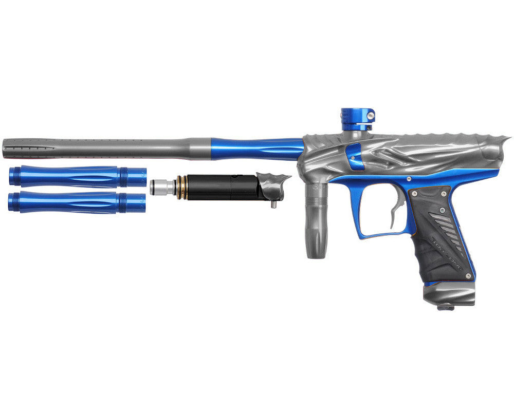 Bob Long Reptile VIS Paintball Gun - Titanium/Blue