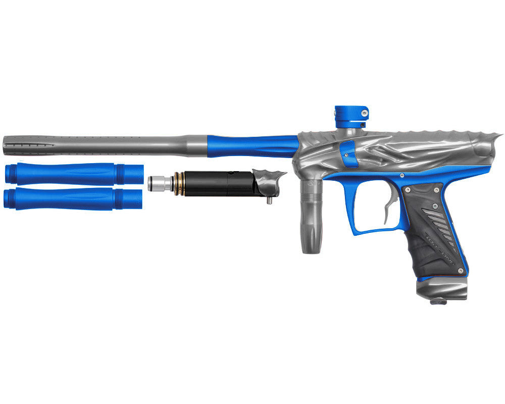 Bob Long Reptile VIS Paintball Gun - Titanium/Dust Blue