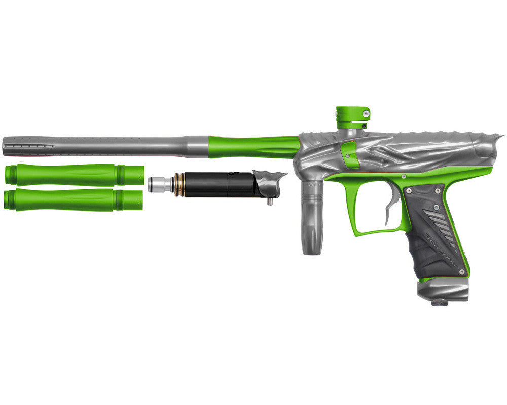 Bob Long Reptile VIS Paintball Gun - Titanium/Dust Lime