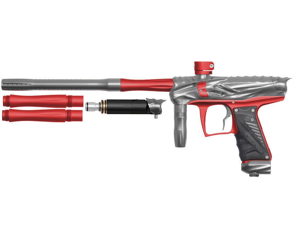 Bob Long Reptile VIS Paintball Gun - Titanium/Dust Red