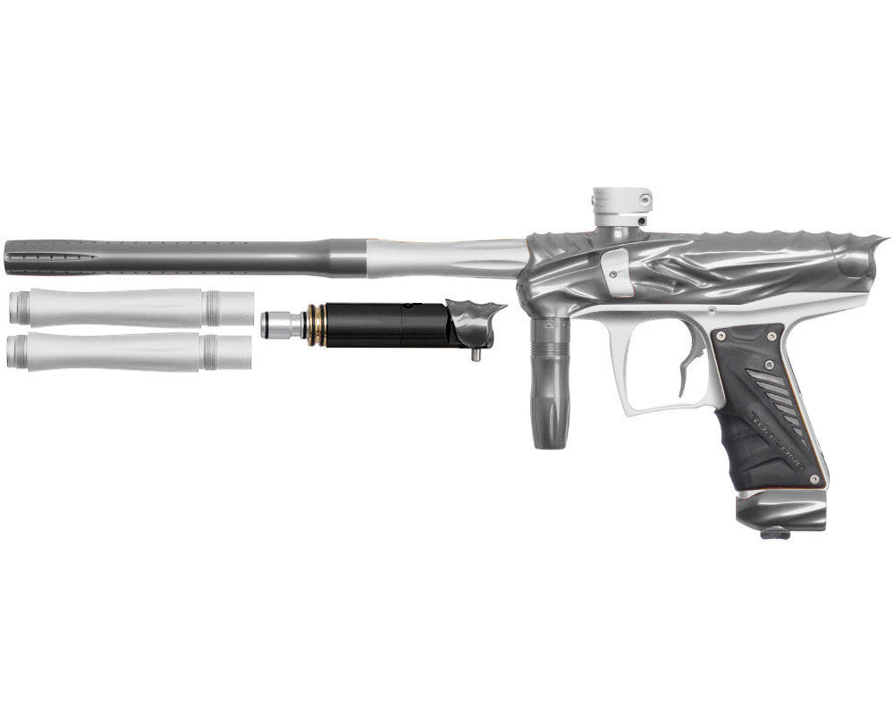 Bob Long Reptile VIS Paintball Gun - Titanium/Dust White