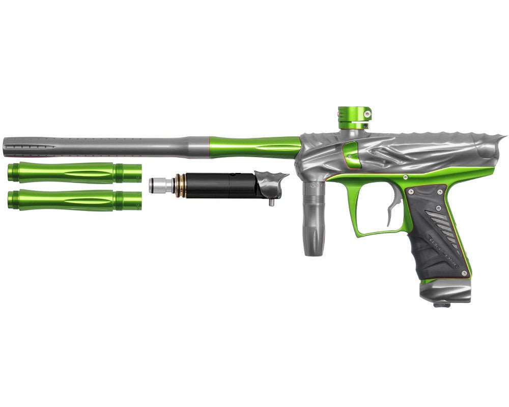 Bob Long Reptile VIS Paintball Gun - Titanium/Lime
