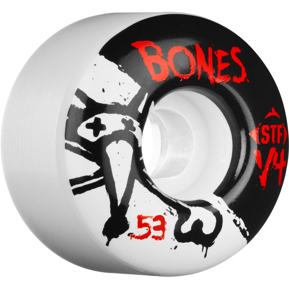Bones STF V4 Series - White - 53mm 83b - Skateboard Wheels (Set of 4)