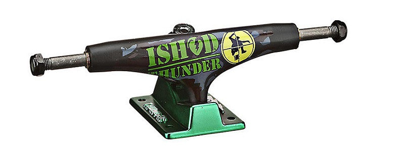 Thunder Wair Bum Rush Lights Low - Black/Green - 145mm - Skateboard Trucks (Set of 2)