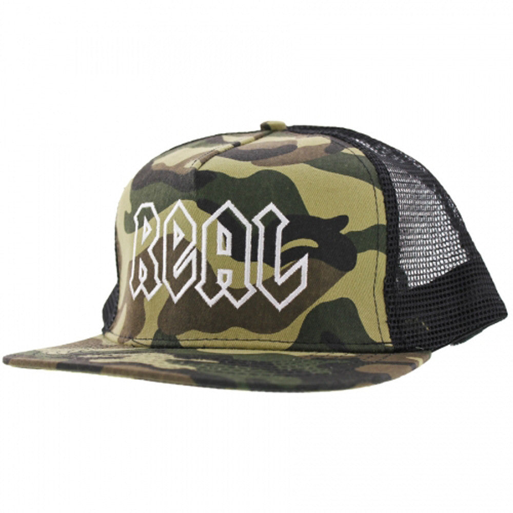Real Adjustable Deeds Trucker - Camo Twill/Mesh - Men's Hat