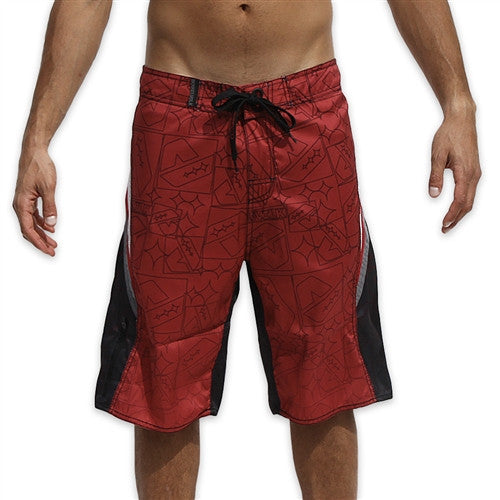 Dunkelvolk Iron Boardshort - Red - Mens Boardshorts