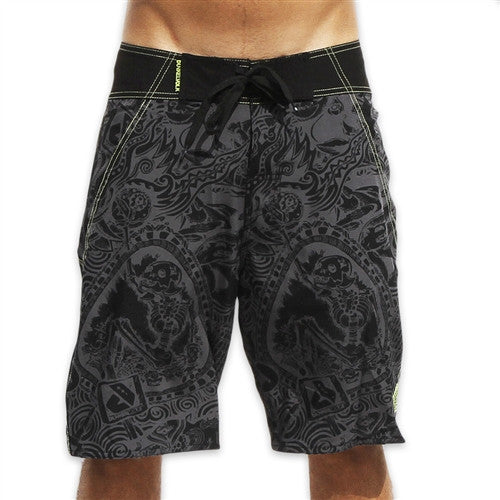 Dunkelvolk Parucha Boardshort - Grey - Mens Boardshorts