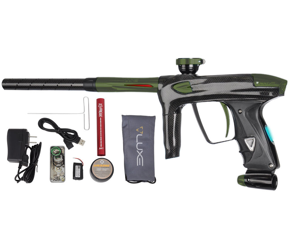 DLX Luxe 2.0 OLED Paintball Gun - Carbon Fiber/Dust Olive
