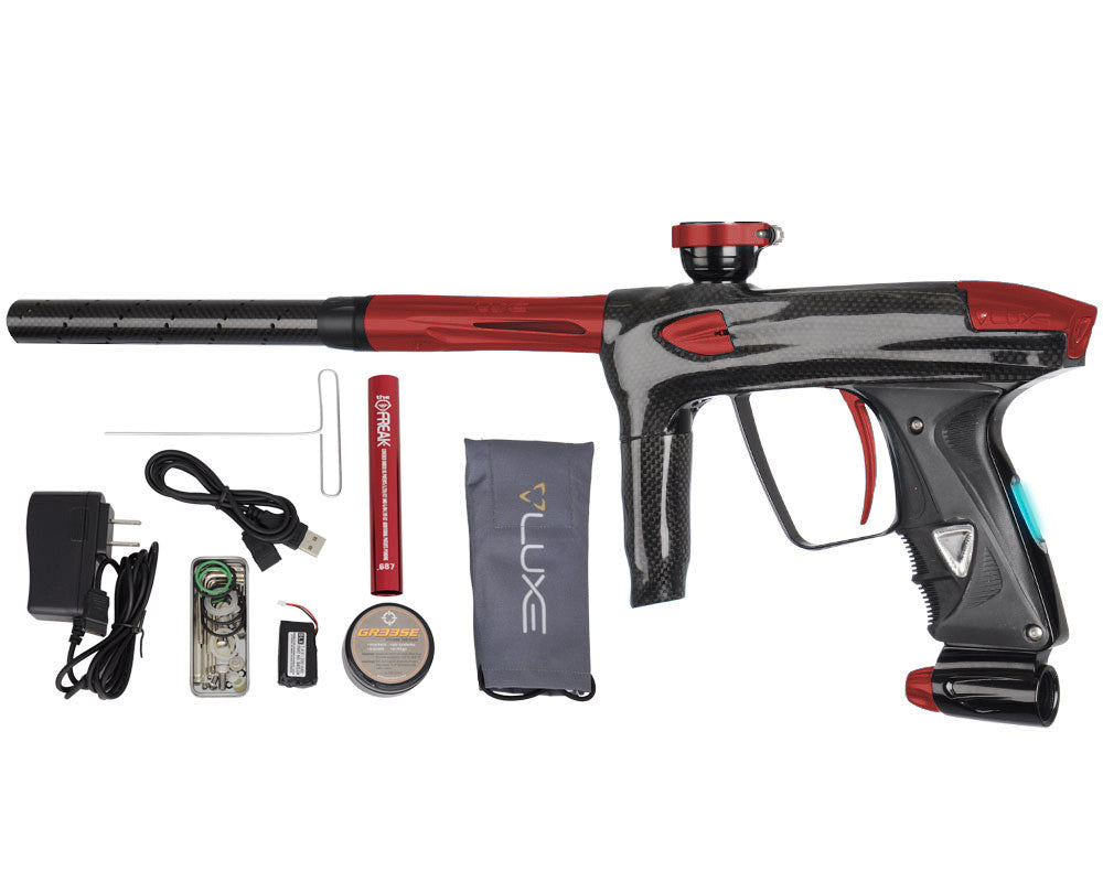 DLX Luxe 2.0 OLED Paintball Gun - Carbon Fiber/Dust Red