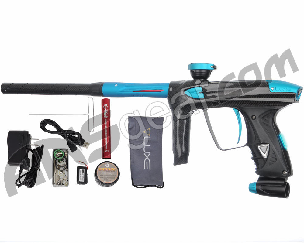 DLX Luxe 2.0 OLED Paintball Gun - Carbon Fiber/Dust Teal