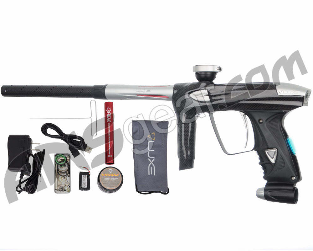 DLX Luxe 2.0 OLED Paintball Gun - Carbon Fiber/Dust White