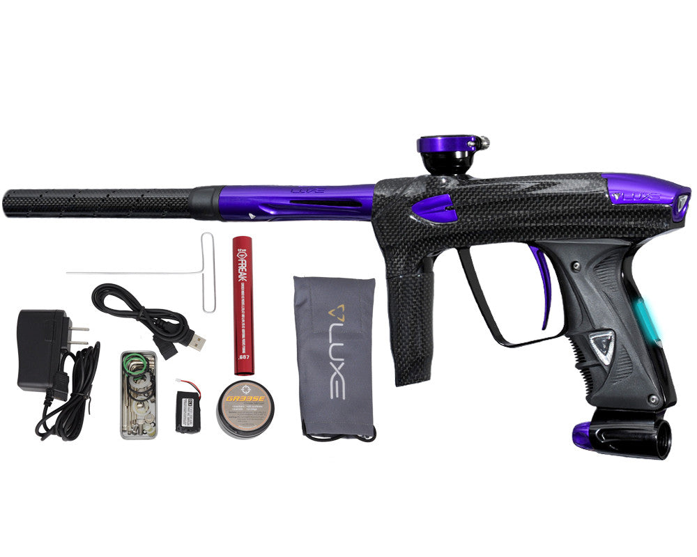 DLX Luxe 2.0 OLED Paintball Gun - Carbon Fiber/Purple