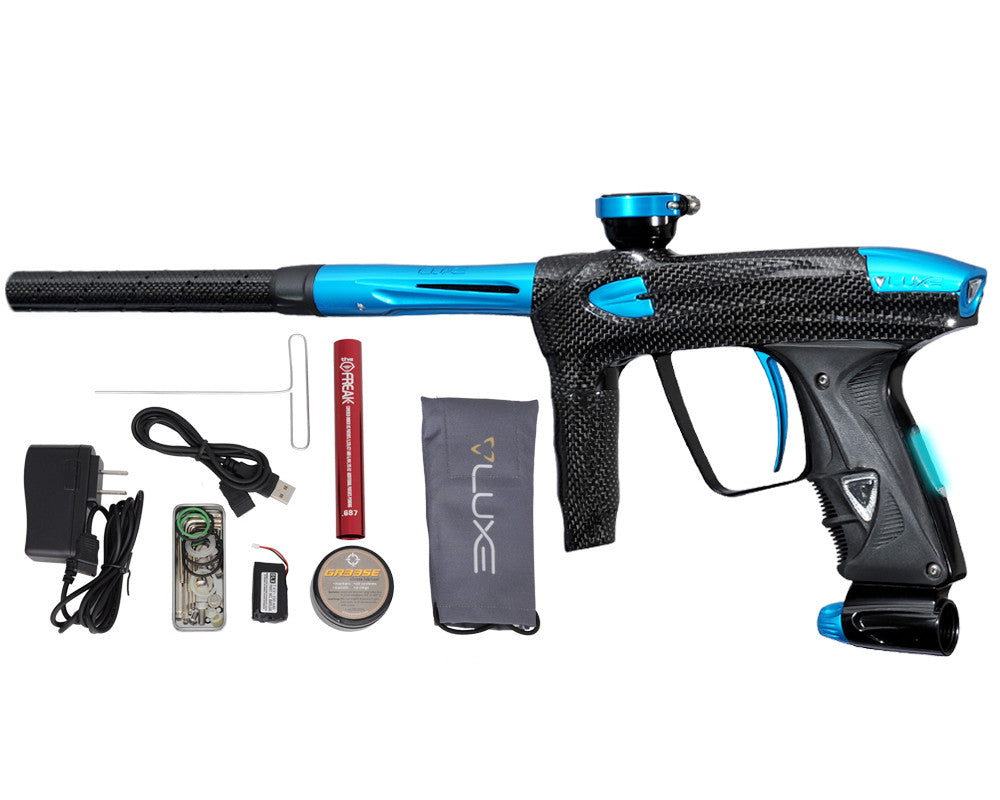 DLX Luxe 2.0 OLED Paintball Gun - Carbon Fiber/Teal