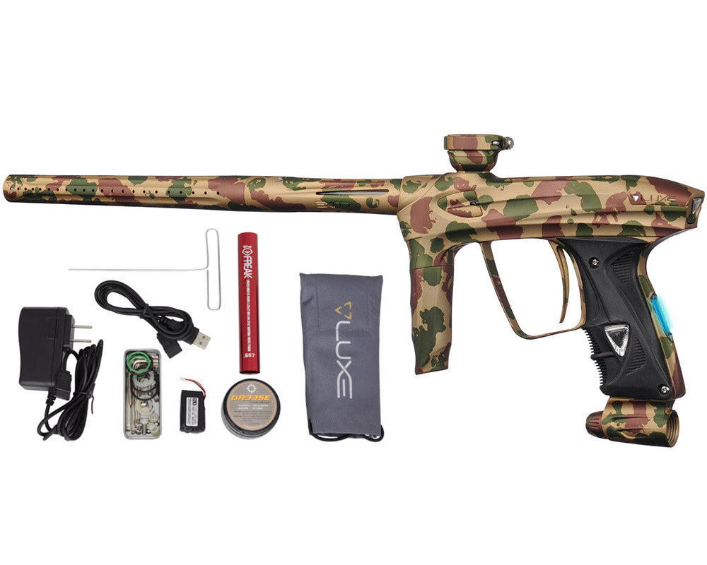 DLX Luxe 2.0 OLED Paintball Gun - Fin Camo Tan