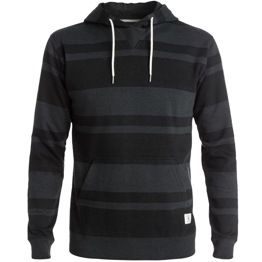 DC Rebel Stripe P/O Hooded - Pirate Black - Men's Sweatshirt