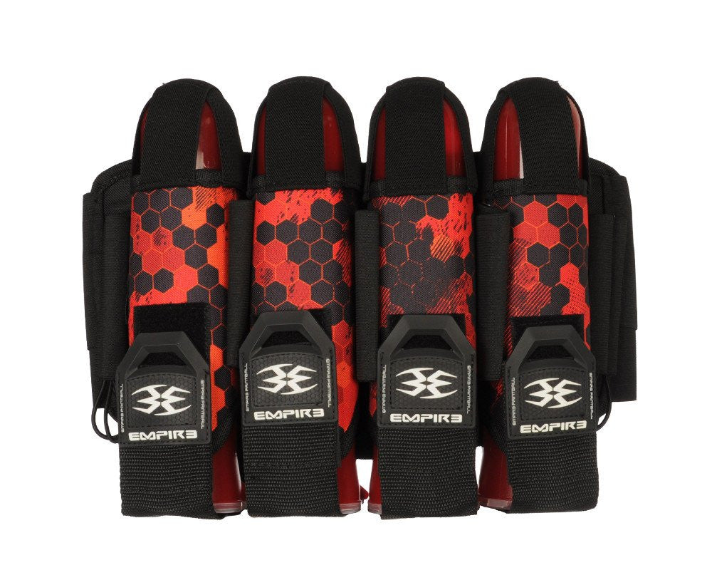 Empire 2014 Action Pack Hex FT Paintball Harness - 4+7 - Red