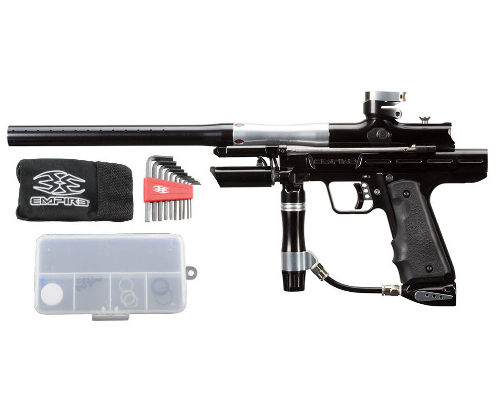 Empire Resurrection Autococker Paintball Gun - LTD Polished Black/Silver