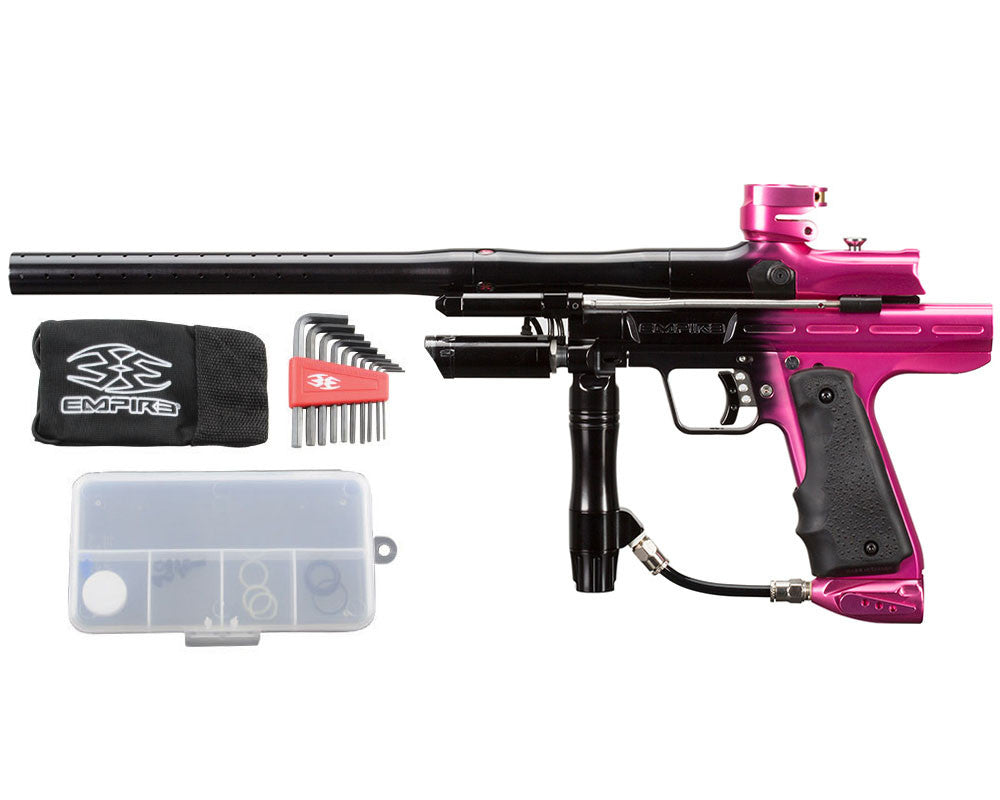 Empire Resurrection Autococker Paintball Gun - LTD Polished Fade Black/Pink