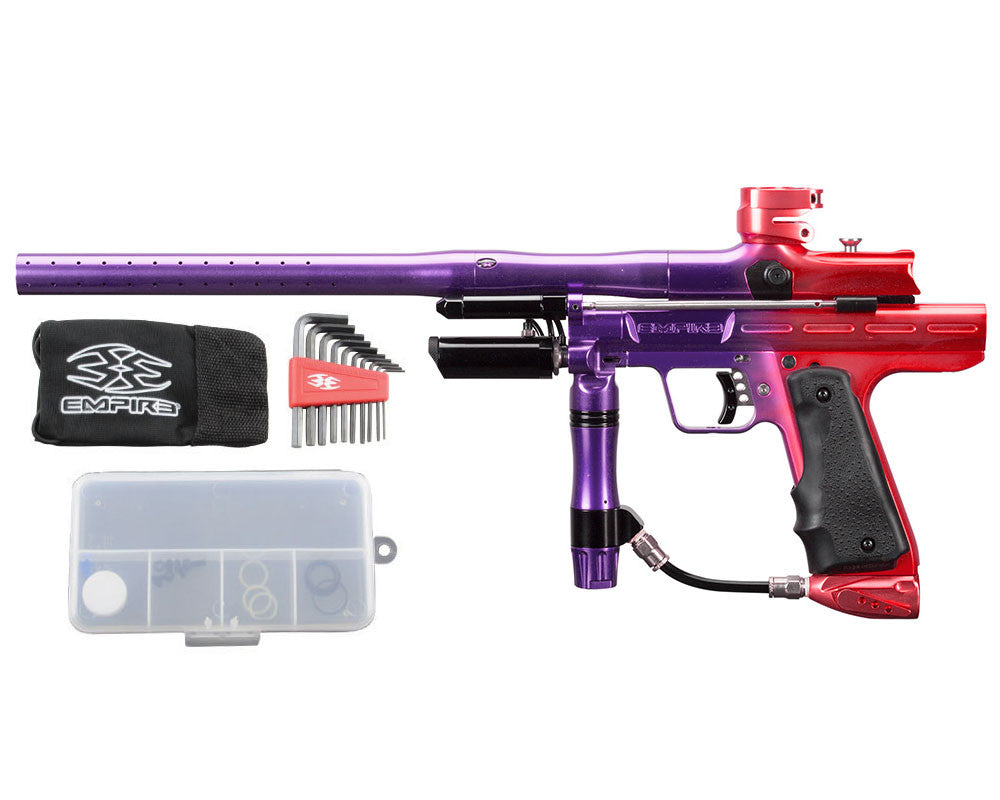 Empire Resurrection Autococker Paintball Gun - LTD Polished Fade Purple/Red