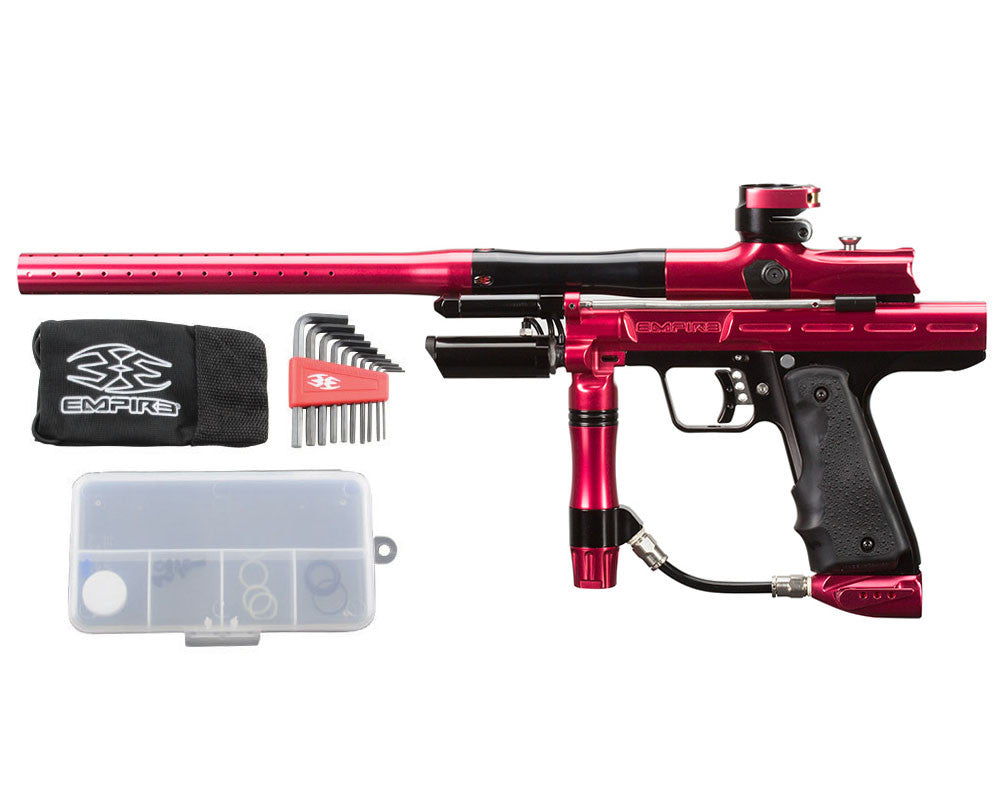 Empire Resurrection Autococker Paintball Gun - LTD Polished Red/Black