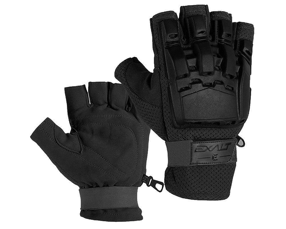 Exalt Hard Shell Paintball Gloves - Black