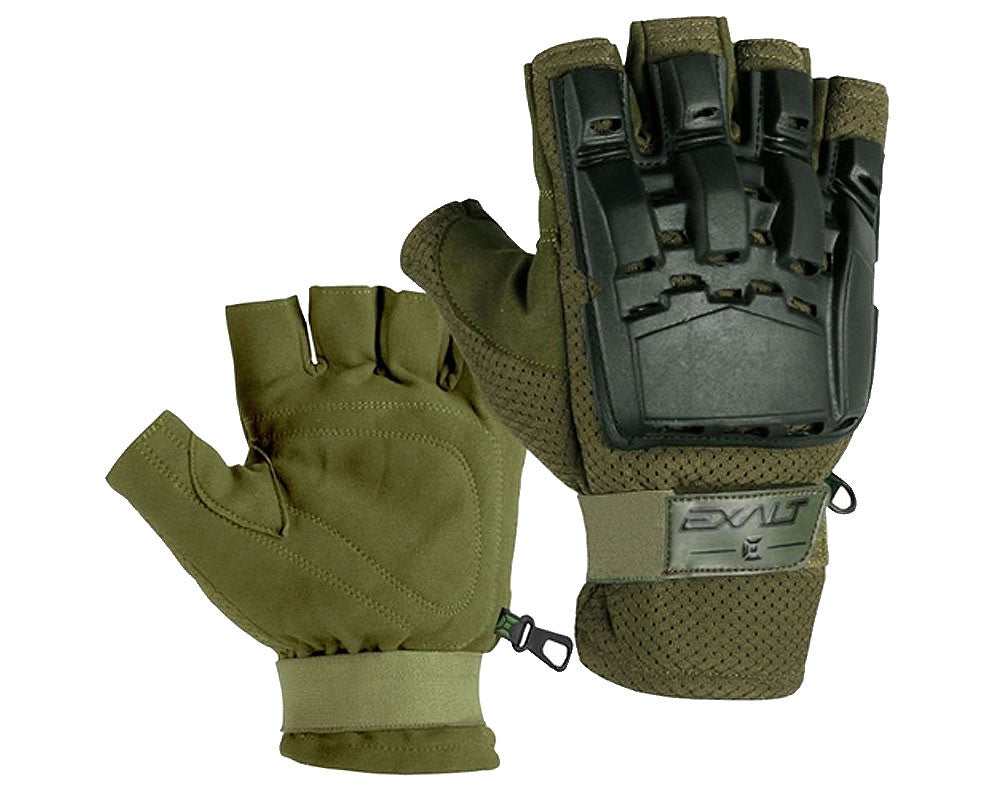 Exalt Hard Shell Paintball Gloves - Olive