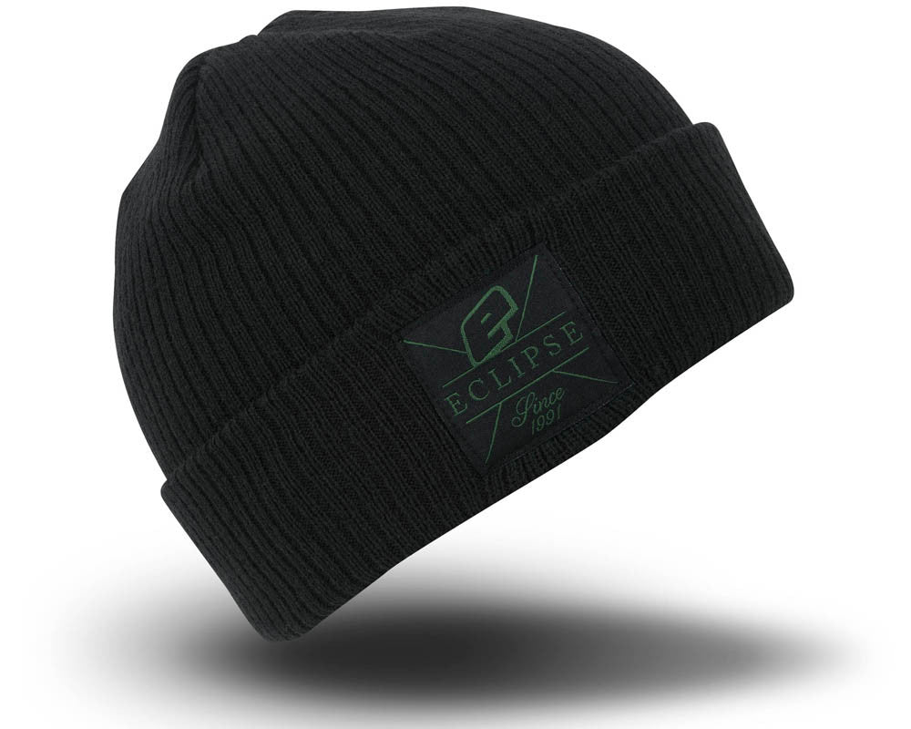 Planet Eclipse 2016 Flux Rollup Beanie - Black/Green