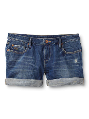 Quiksilver Gypsy Tour True Blue Shorts - Blue - Womens Shorts
