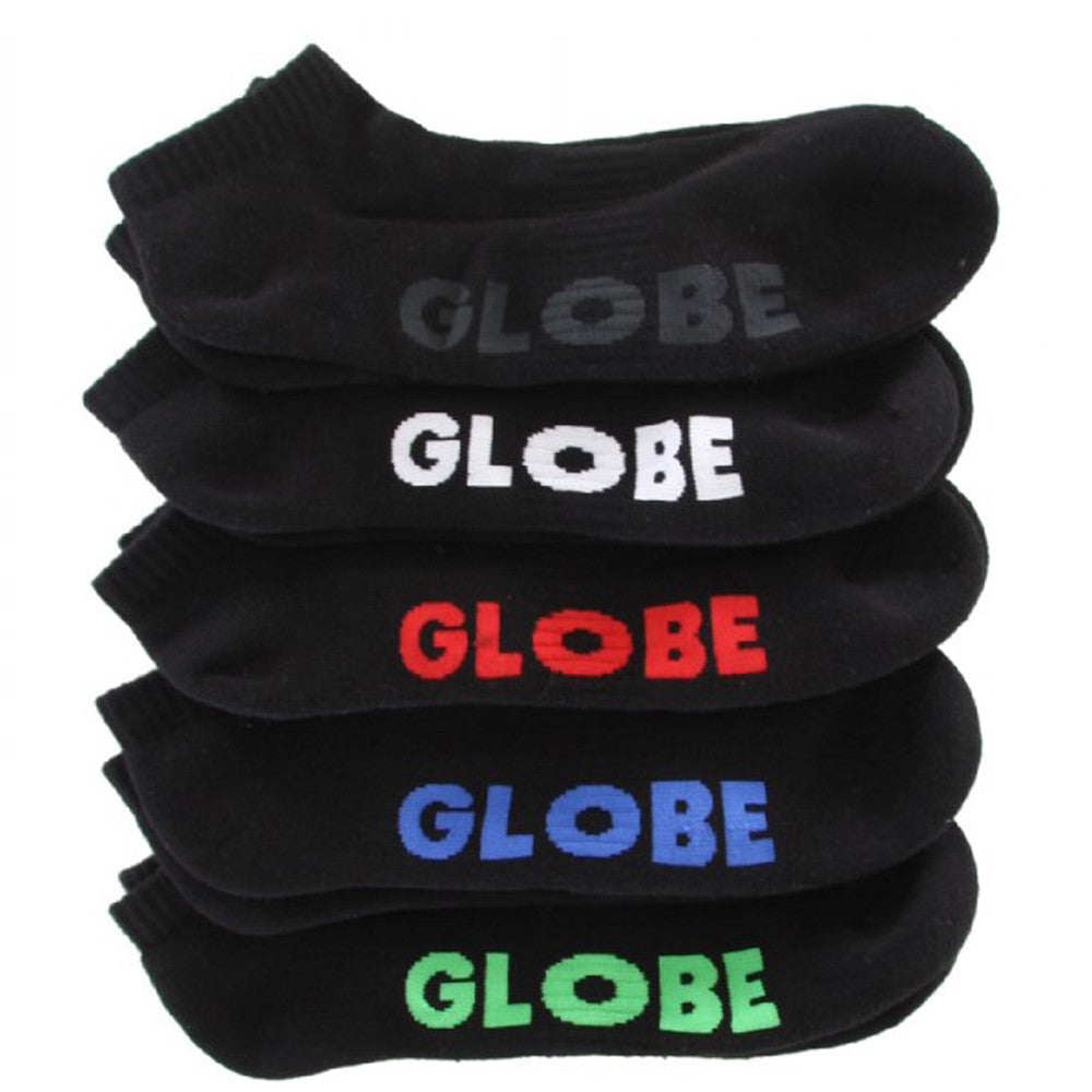 Globe Stealth Ankle Sock - Black - Men's Socks (5 Pairs)