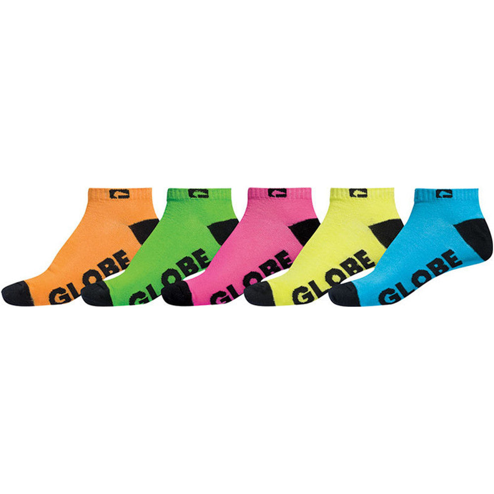 Globe Neon Ankle - Assorted - Men's Socks (5 Pairs)