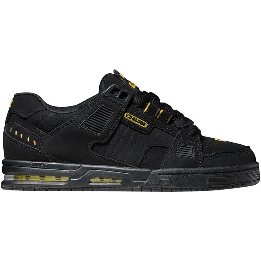 Globe Sabre - Black/Yellow - Skateboard Shoes