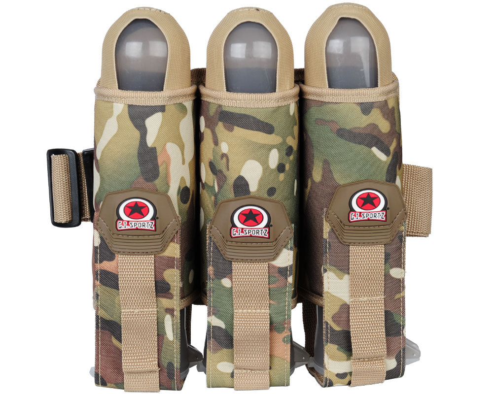 GI Sportz 3 Pack Paintball Harness w/ Belt - Multicam