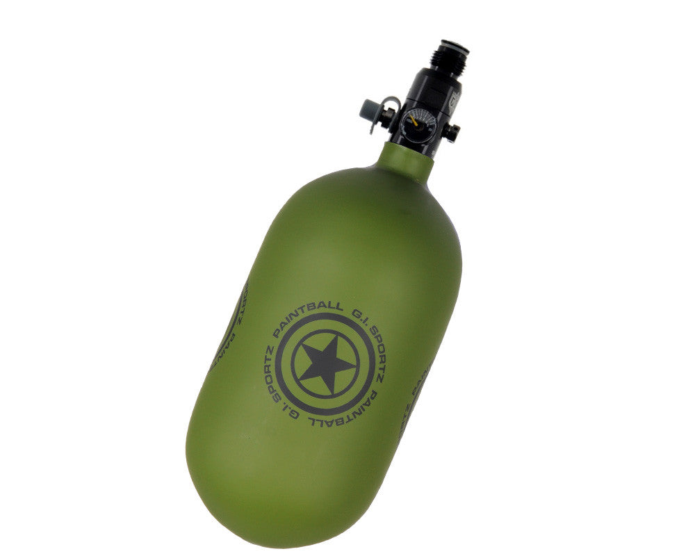 GI Sportz 68/4500 Compressed Air Paintball Tank - Matte Green