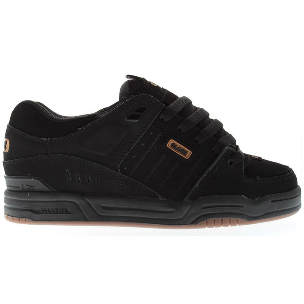 Globe Fusion - Black/Black/Brown - Skateboard Shoes