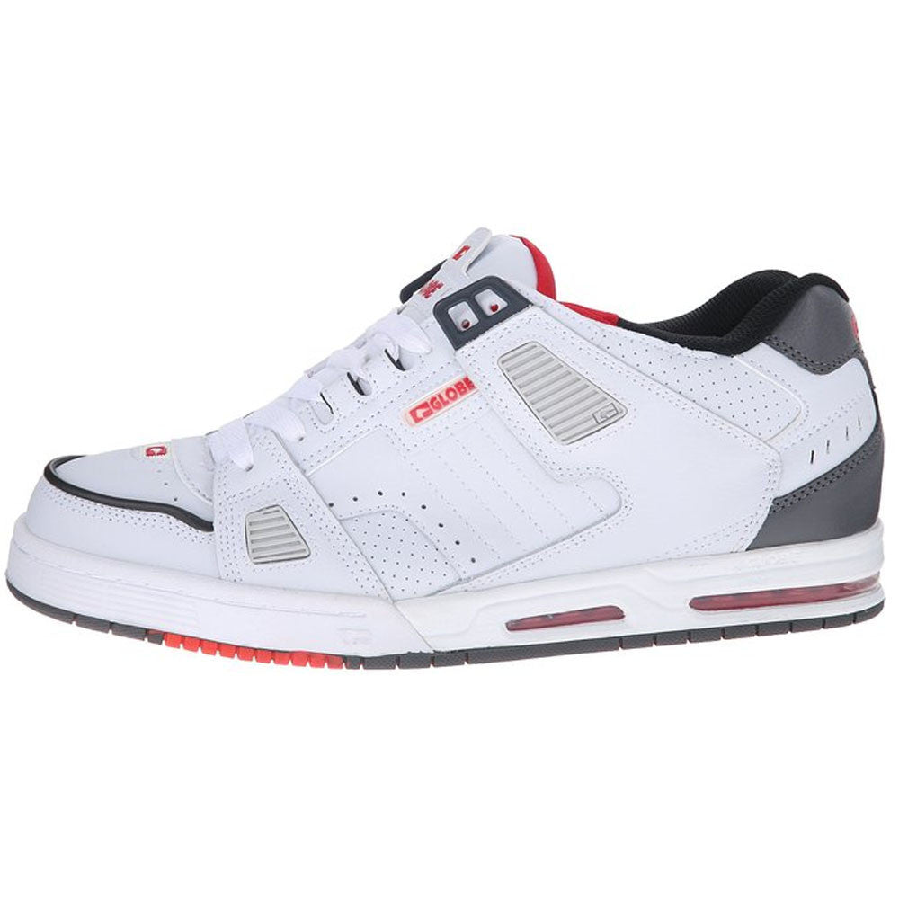 Globe Sabre - White/Grey/Red - Skateboard Shoes