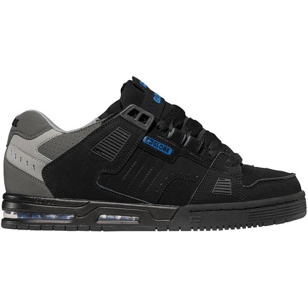Globe Sabre - Black/Charcoal/Blue - Skateboard Shoes