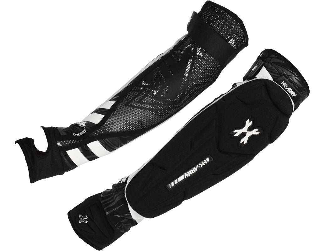 HK Army Crash Elbow Pads - Black/White