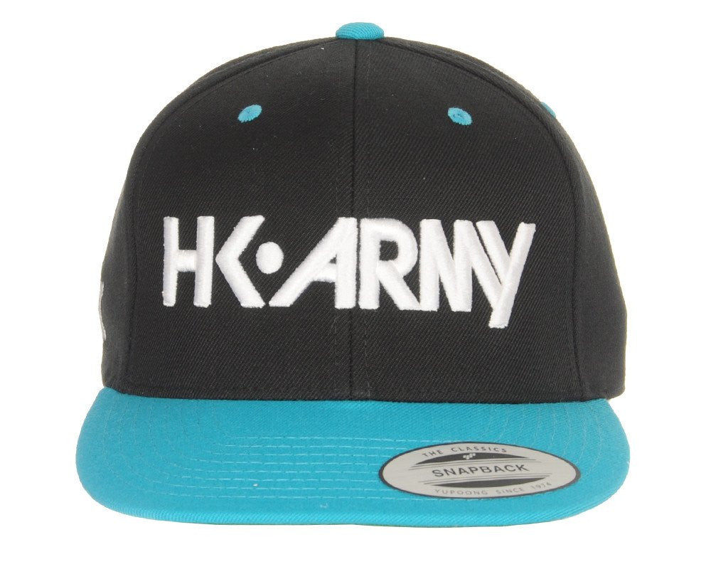 HK Army Snap Back Typeface Hat - Black/Blue/White
