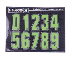 HK Army Loader Numbers - Green